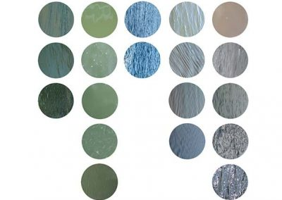 Different colours of water surfaces